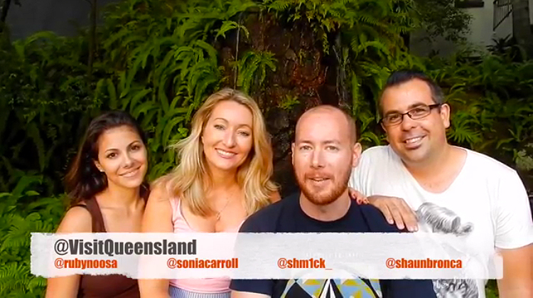 Joined the cast: 'Visit Queensland'